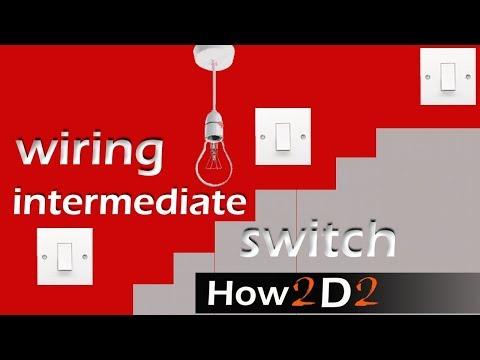 3 way switching Intermediate switch LIGHT SWITCH wiring