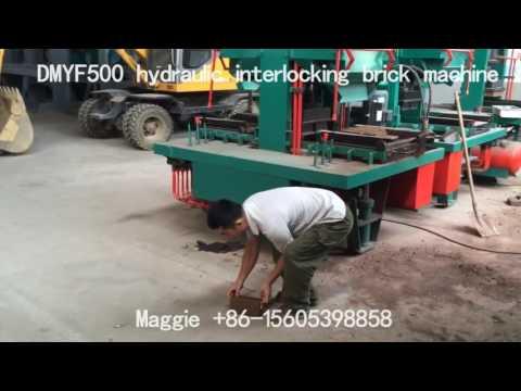 DMYF500 hydraulic/clay brick machine/interlocking brick machine