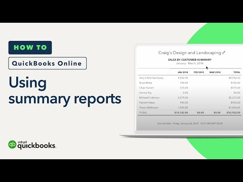 How to Use Summary Reports: Summaries & Information   QuickBooks Online Tutorial 2018