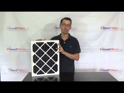 Restaurant Ventilation - Pleated Charcoal Air Filters