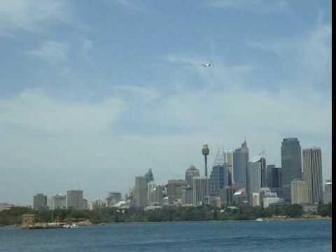 Qantas A380 Nancy Bird Walton funeral fly past Pt 2