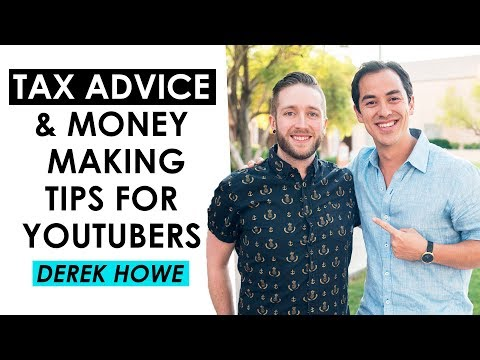 How to Earn More Money on YouTube and Tax Advice for YouTubers —  Derek Howe (Ellify Talent)