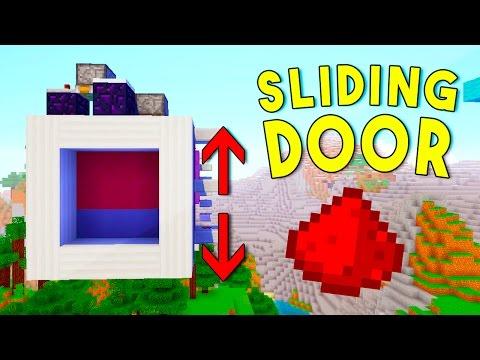 Minecraft 1.11 Redstone Tutorial - VERTICAL SLIDING DOOR