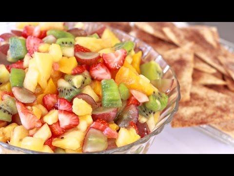 Fresh Fruit Salsa w/ Cinnamon Sugar Tortilla Chips