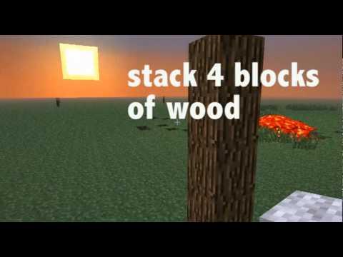 mincraft how to make the lantern tree