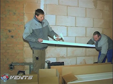 VENTS VUE2 250 P EC: mounting of the suspended air handling unit in a flat