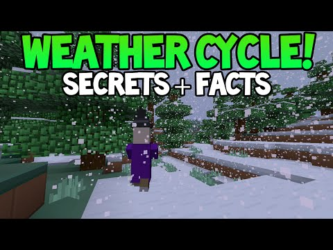 Minecraft (Xbox360/PS3)  - Everything About Weather Cycle! + Snow, Mob Changes