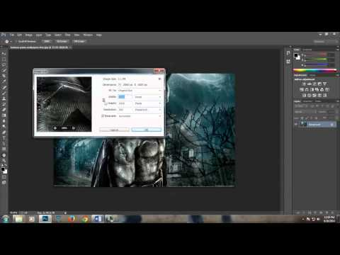 Adobe Photoshop CC 2014 Changing image size (resolution)resizing it and compressing it