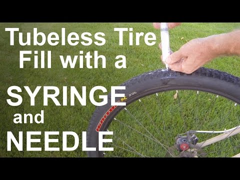 Tubeless Tire Fill With Syringe And Needle