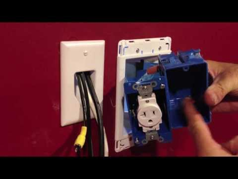 Installing a Recessed Outlet Box for wall mount TV's