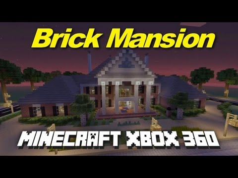 Minecraft Xbox 360: Huge Brick Mansion! (House Tours of Danville Episode 24)