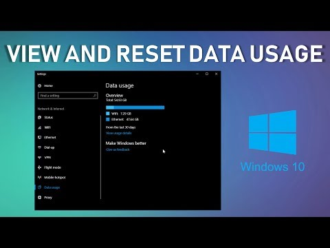 View and reset data usage in Windows 10