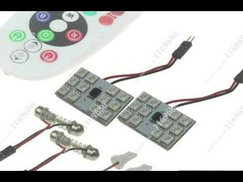 ROOF SMD LIGHT WITH REMOTECONTROL, RGB CAR REMOTE 16 COLOR INTERIOR LAMP ROOF LIGHT