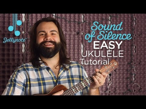 The Sound of Silence by Simon & Garfunkel - F Chord Ukulele tutorial (Easy Jellynote Lesson)