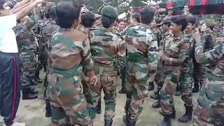 Assam Rif. Lady soldiers dance RDP pared ka jashan manate...