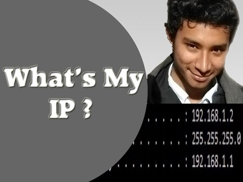 How do I find my ip address using CMD and Internet browser