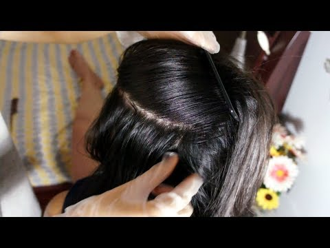 ASMR FEELS SO GOOD! Scalp Check for Dandruff Removal (Comb, Finger Picking) Scalp Scratching Massage