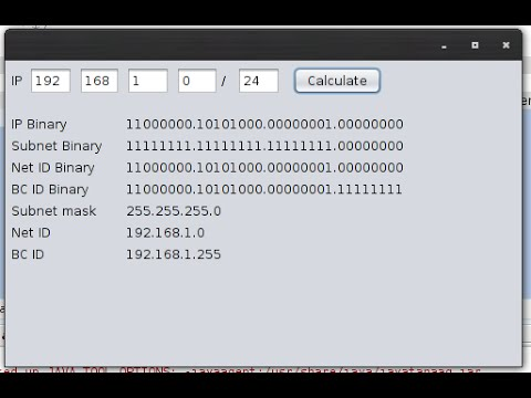 How to make IP Address calculator in java netbeans 8