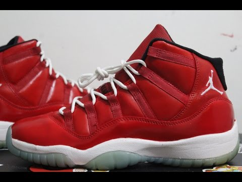CUSTOM GYM RED JORDAN 11's