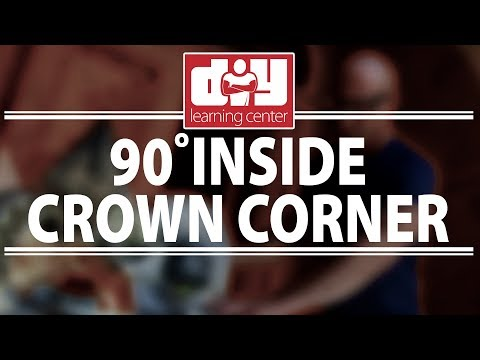 How to cut an inside 90 degree crown molding corner