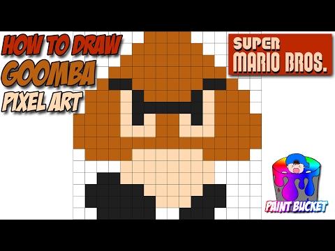 How to Draw a Goomba - Super Mario Bros