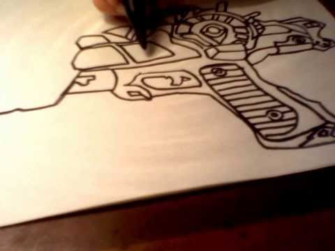 How to draw the ray gun mark 2 part 2 from black ops 2