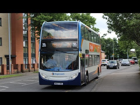 FULL ROUTE!   Lincoln Park & Ride   Stagecoach 19147 (NK07HBG)   Alexander Dennis E400 (Trident)