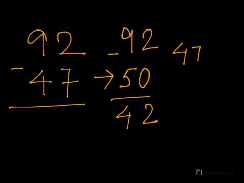 Class 2 Vedic Maths- Fast substraction of 2 digit number   Subtraction without regrouping for kids