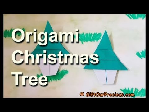 Origami Christmas Tree / Pine Tree - Simple and Easy Origami for Kids and Everyone