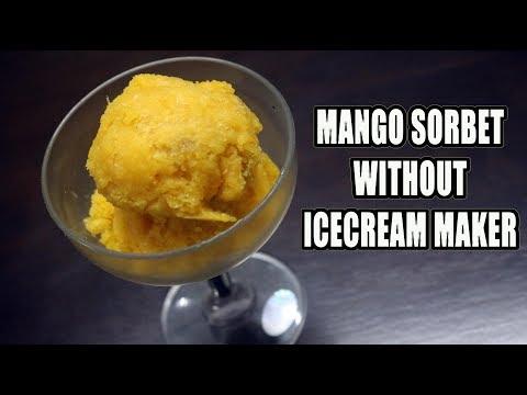 BEST Mango Sorbet without Ice Cream Maker | Sorbet Recipe