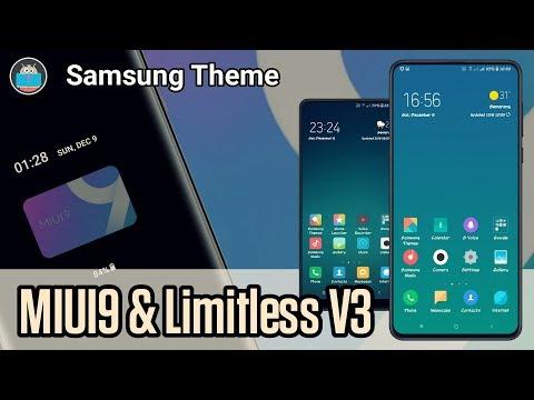 MIUI 9 & Limitless V3 | New Samsung Theme