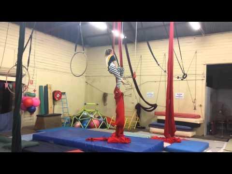 Aerial silk rehearsal