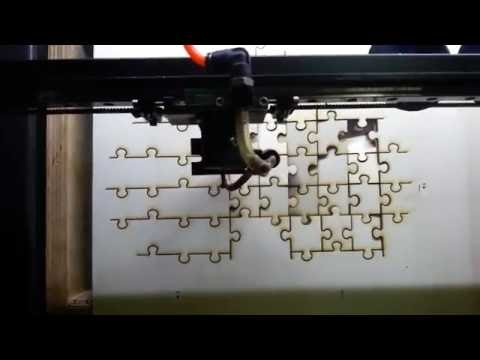 Wooden puzzle laser cutting