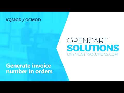 OPENCART-SOLUTIONS | Generate invoice number in orders