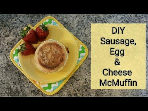 Homemade Sausage, Egg & Cheese McMuffin | DIY McDonald's Breakfast Sandwich