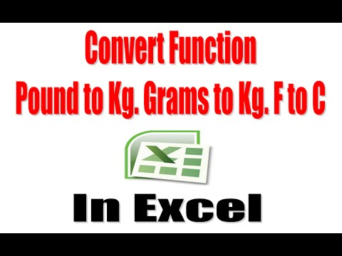 How to Use Convert Function in Excel