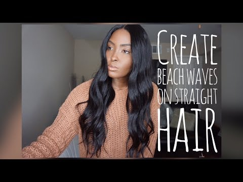 How I Create Beach Waves On Straight Hair