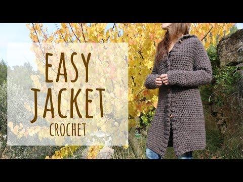 Tutorial Easy Jacket or Coat Crochet