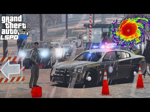 GTA 5 LSPDFR #546 | Florida Highway Patrol Helping To Evacuate People Out Of Hurricane Irma's Path