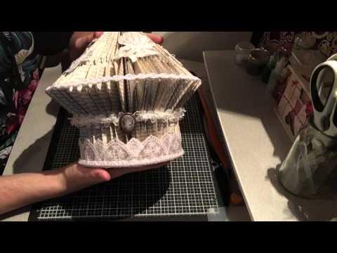 Book folding - vintage bird cage