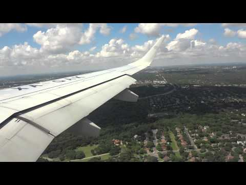 AEROMEXICO Flight 632(MEX-SAT) Landing at San Antonio , Texas Intl. Airport