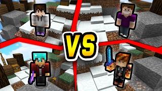 Youtuber Challenge! (minecraft Skywars 1v1v1v1)