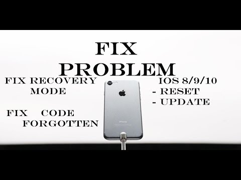 How to Fix any problem of your iphone - recovery mode - restoring