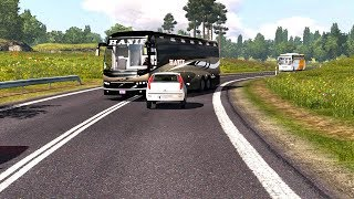 🔴 Indian Volvo B11R Bus Driving   BEST OVERTAKING   Euro
