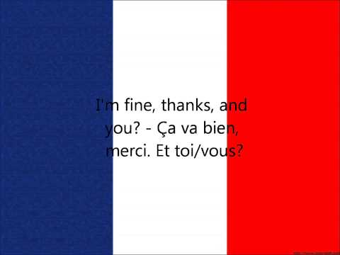 French Phrases: I'm fine, thanks, and you?