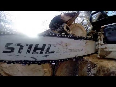 Chainsaw in SLOW MOTION! SAWDUST Party!