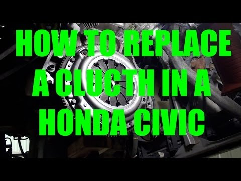 How to replace a clutch on a 2001 to 2005 Civic