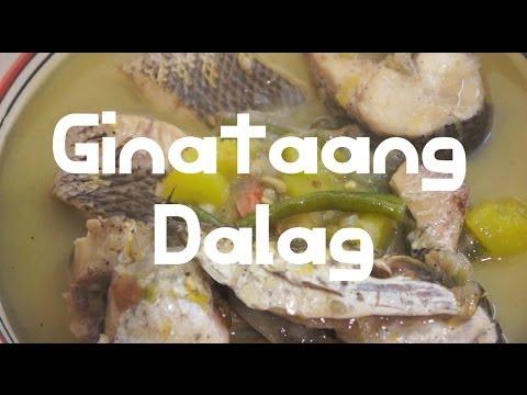 Paano magluto Ginataang Dalag Recipe - Pinoy Kanan Fish Filipino Tagalog cooking