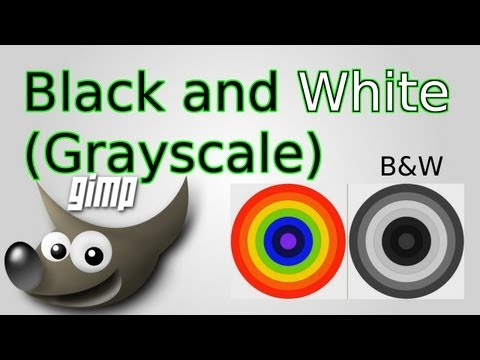 GIMP: How to Convert Images to Black and White (Grayscale)