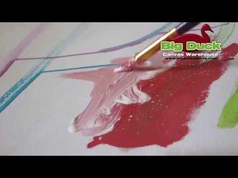 The Perfect Canvas #12(11.5oz) Cotton Duck Primed & Unprimed Artist Canvas